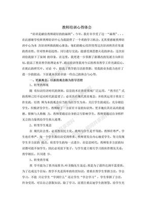 教师培训心得体会.doc