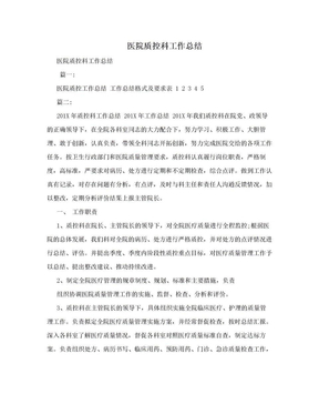 医院质控科工作总结.doc