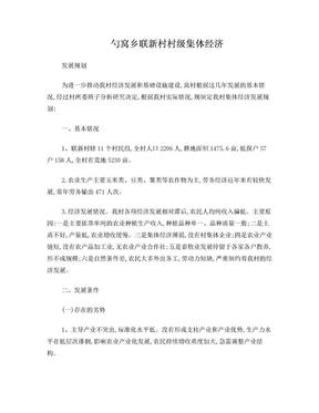 聯新村集體經濟發展規劃.doc