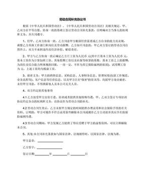 劳动合同补充协议书.docx