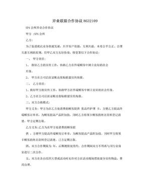 异业联盟合作协议8632109.doc