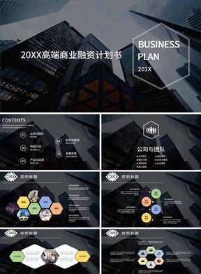 201X高端商业融资计划书.pptx