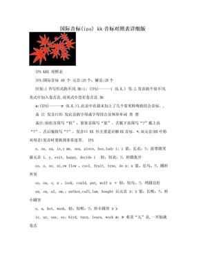 国际音标(ipa) kk音标对照表详细版.doc