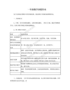 一年级数学暑假作业(4).doc