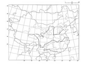 空白中国地图(有经纬).doc