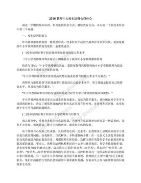 2016教师个人校本培训心得体会.docx