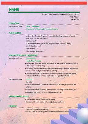 英文简历模板(多个模板)