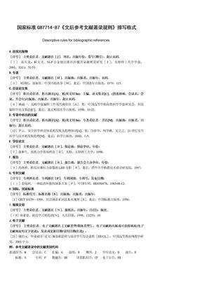 国家标准GB7714-87《文后参考文献著录规则》排写格式.doc