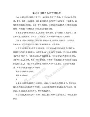 集团公司财务人员管理制度.doc
