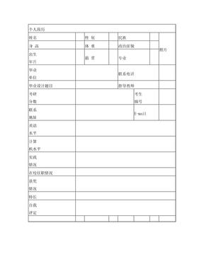 考研复试简历模板.doc