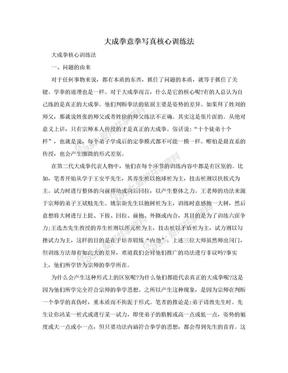 大成拳意拳写真核心训练法.doc