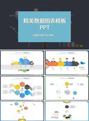 精美彩色数据ppt图表模板.pptx