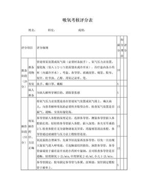 吸氧考核评分表.doc