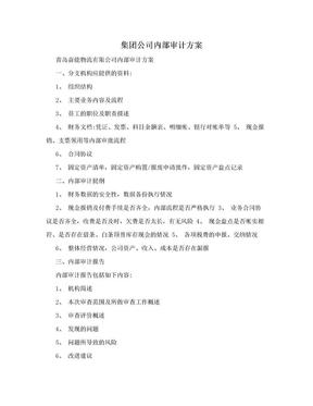 集团公司内部审计方案.doc