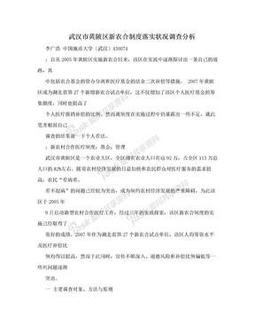 武汉市黄陂区新农合制度落实状况调查分析.doc