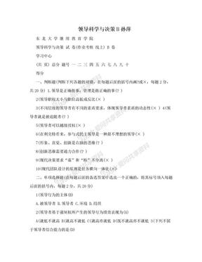 领导科学与决策B孙萍.doc