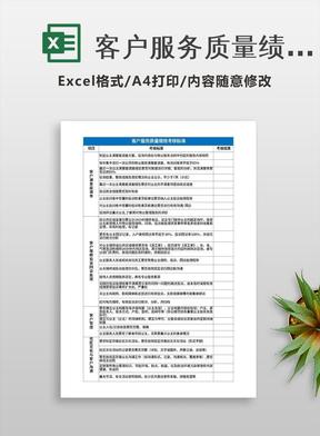 客户服务质量绩效考核标准.xlsx
