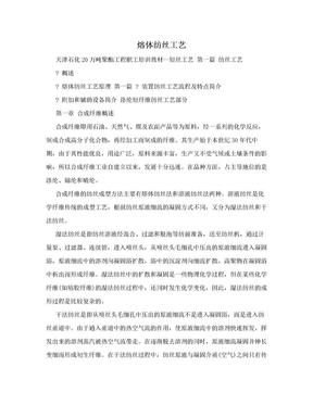 熔体纺丝工艺.doc