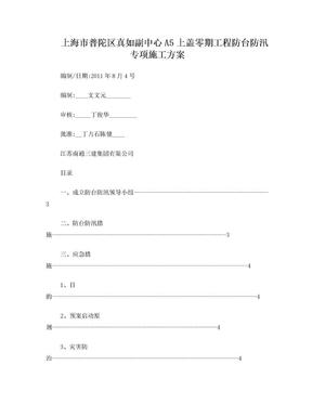 防台、防汛方案.doc