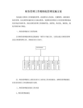 财务工作标准化方案.doc