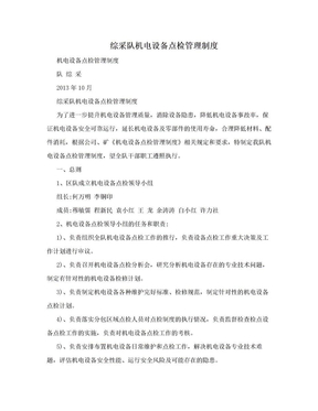 综采队机电设备点检管理制度.doc