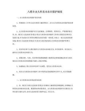 基本农田保护8项制度.doc