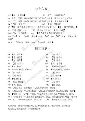 英语国际音标汉字谐音发音表.doc