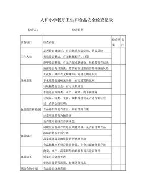学校餐厅卫生和食品安全检查记录.doc
