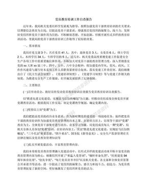党员教育培训工作自查报告.docx