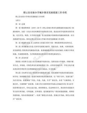 缙云县实验小学城乡教育发展联盟工作章程.doc