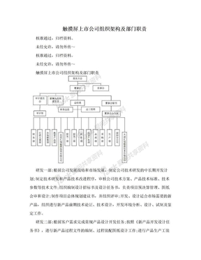 触摸屏上市公司组织架构及部门职责.doc