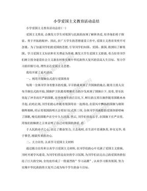 小学爱国主义教育活动总结.doc