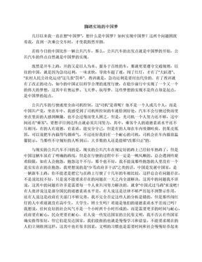脚踏实地的中国梦_高一说明文作文400字