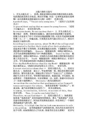 大学英语六级-万能作文.doc
