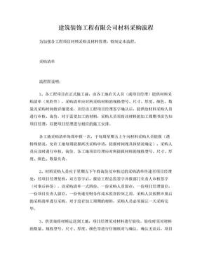 建筑装饰公司材料采购流程.doc