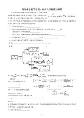 高考化学复习专题:有机化学框图推断题.doc