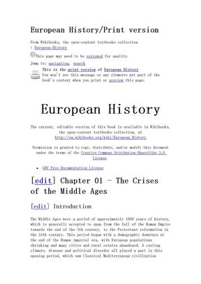 European history 欧洲历史.doc