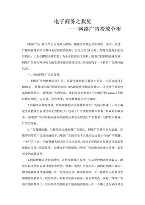 网络广告投放分析.doc