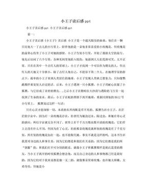 小王子读后感ppt.doc