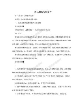 环己酮肟实验报告.doc