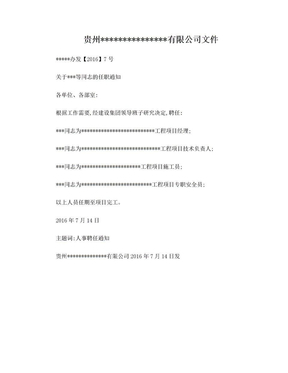 管理人员任命文件(1).doc