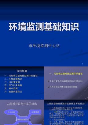 环境监测基础知识培训讲座课件.ppt