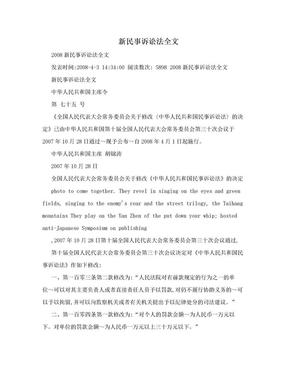 新民事诉讼法全文.doc