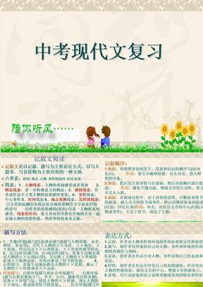 中考现代文阅读复习.ppt