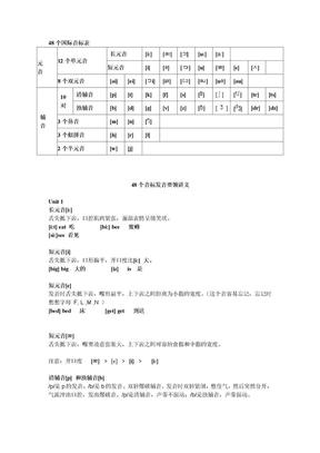 48个国际音标表发音整理.doc
