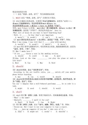 情态动词复习.doc