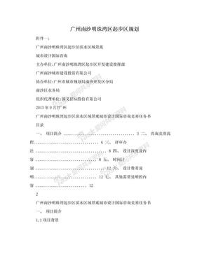 广州南沙明珠湾区起步区规划.doc