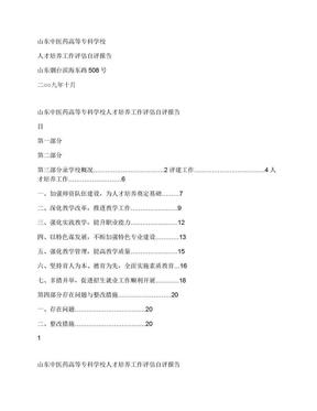 专业评估自评报告(成稿).docx