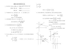 高中数学解析几何中的基本公式.doc