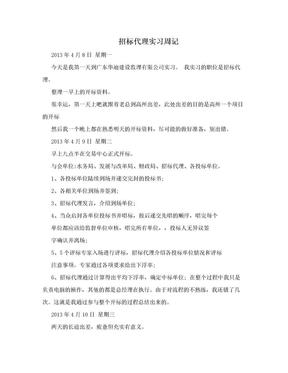 招标代理实习周记.doc
